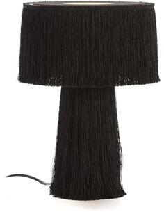 Lampe de Table avec abat-jour 25x25x38 Toile Noir