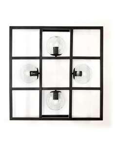 Applique 72x13x72 Métal Noir