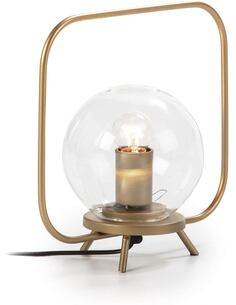 Lampe de Table 29x15x28 Verre/Métal Doré