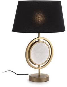 Lampe de Table sans abat-jour 24x15x42 Marbre Blanc/Métal Doré