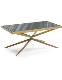 Table à café 106x60x47 Marbre/Métal Doré