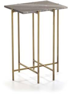 Table d'appoint 43x35x60 Marbre/Métal Doré