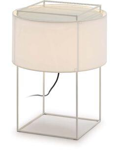 Lampe de Table avec abat-jour 36x36x48 Métal Blanc
