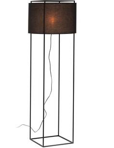 Lampadaire avec abat-jour 55x55x165 Métal Noir