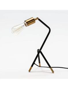 Lampe de Table sans abat-jour 26x26x35 Métal Noir/Doré