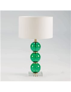 Lampe de Table sans abat-jour 17x17x50 Verre Vert