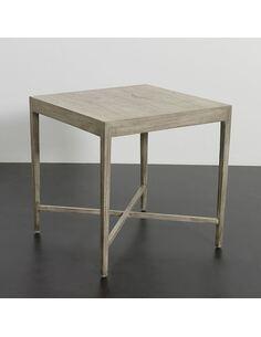 Table d'appoint 60x60x60 Bois Gris voilé