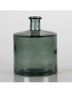 Vase 21x21x26 Verre Vert