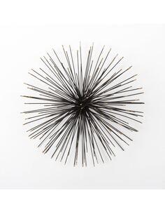 Sculpture 41x21x41 Métal Noir/Doré