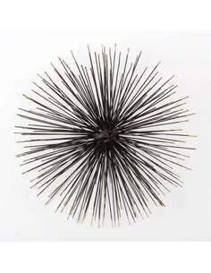 Sculpture 47x23x47 Métal Noir/Doré