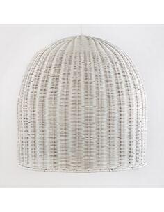 Lampe d'architecte 60x60 Osier Blanc