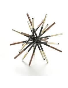 Figure 18x18x18 Métal Noir/Doré