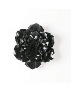 Sculpture 39x7x39 Métal Noir