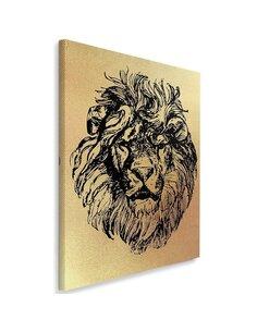 Tableau Drawn Lion Head 2