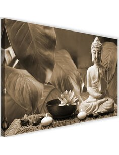 Tableau Buddha With Lily 4