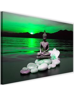 Tableau Buddha On The Rocks 2