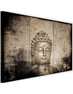 Tableau Buddha On Wooden Background 4