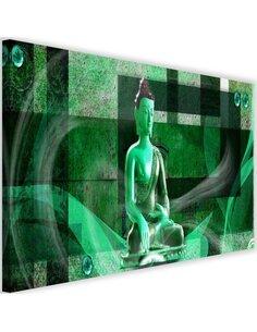 Tableau Buddha On A Geometric Background 2
