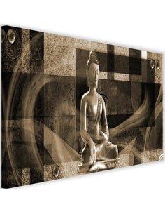 Tableau Buddha On A Geometric Background 4