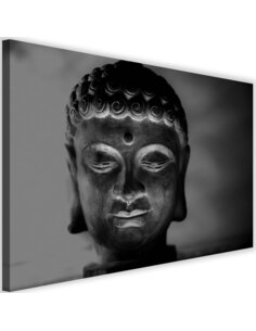 Tableau Illuminated Buddha Head 3