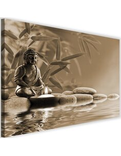 Tableau Buddha The Water On The Stones 4