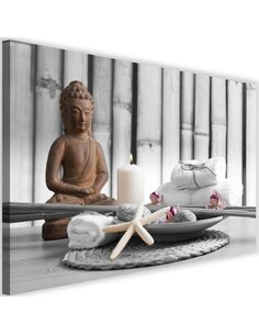 Tableau Buddha With A Candle 1