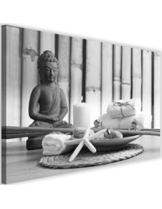 Tableau Buddha With A Candle 3
