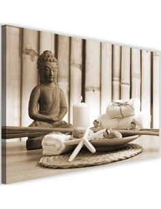 Tableau Buddha With A Candle 4