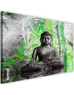 Tableau Buddha And Bamboo 1
