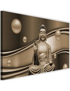 Tableau The Meditator Buddha On Abstract Background 4