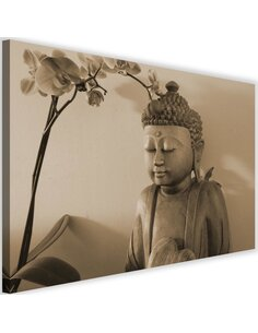 Tableau Buddha With Orchid