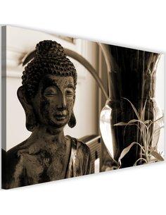 Tableau Buddha With Vase