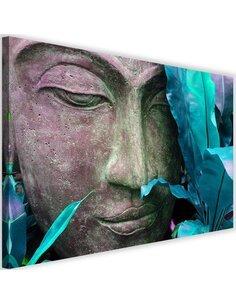 Tableau Buddha's Face With Leaf