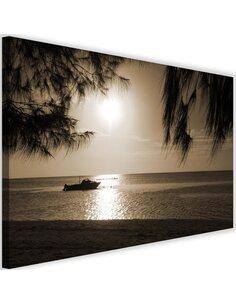 Tableau Motor Boat On The Sea Shore 1