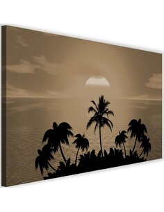 Tableau Sunset With Palms 1