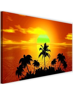 Tableau Sunset With Palm Trees