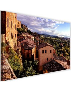 Tableau Buildings In Tuscany