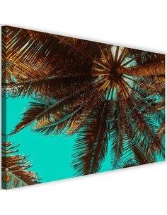 Tableau Palm Tree On A Turquoise Sky