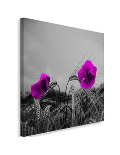 Tableau Purple Poppies And Corn