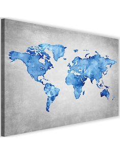 Tableau Blue Map Of The World