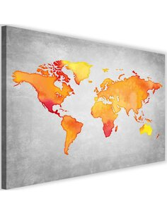 Tableau Orange World Map
