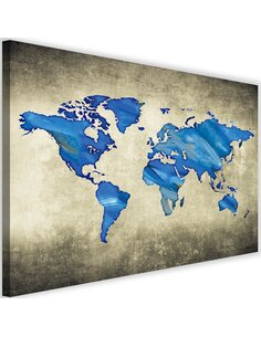 Tableau Navy Blue Map Of The World