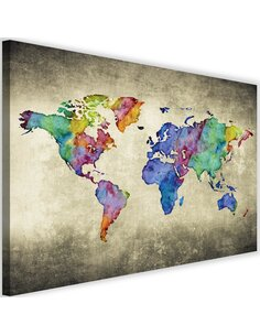 Tableau Colorful Vintage World Map