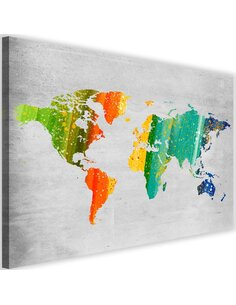 Tableau Colorful World Map