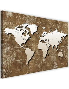Tableau Old Map Of The World Retro