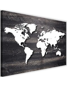 Tableau World Map On A Gray Wood