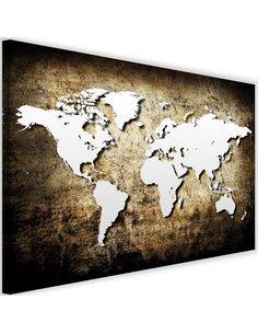 Tableau Old Vintage World Map