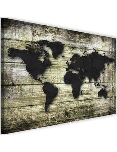 Tableau Black World Map On The Boards