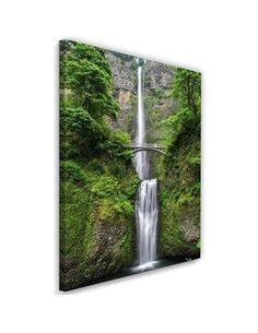 Tableau Bridge Over A Waterfall