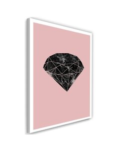 Tableau Black Diamond On A Pink Background